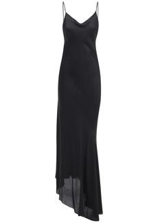 Ann Demeulemeester Stretch Satin Long Slip Dress