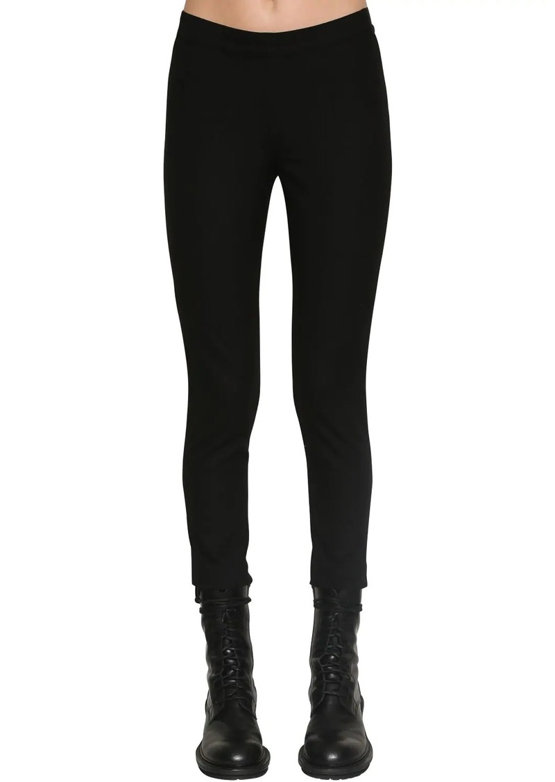 Ann Demeulemeester Stretch Wool Canvas Leggings