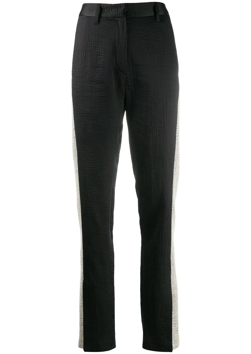 Ann Demeulemeester stripe slim-fit trousers