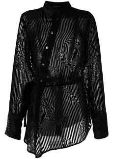 Ann Demeulemeester striped asymmetric shirt