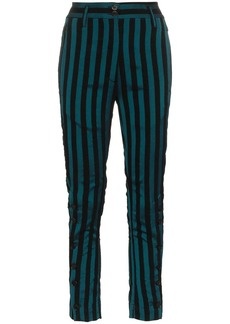 Ann Demeulemeester striped cotton blend trousers