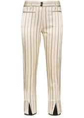 Ann Demeulemeester striped cropped trousers