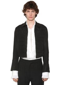Ann Demeulemeester Striped Linen Blend Spencer Jacket