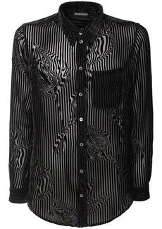 Ann Demeulemeester Striped Sheer Viscose & Silk Shirt