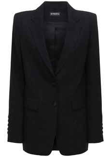 Ann Demeulemeester Striped Wool Gabardine Jacket