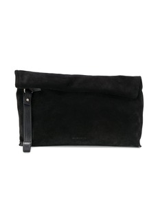 Ann Demeulemeester suede rolled tote bag