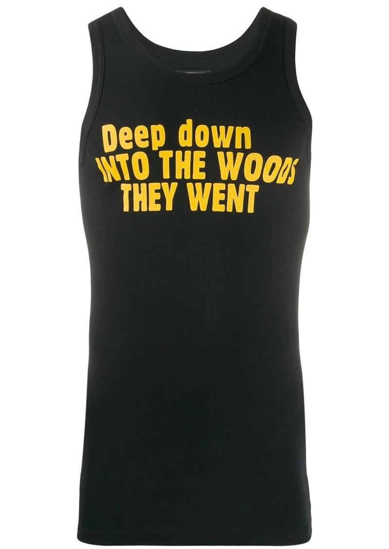 Ann Demeulemeester text print vest top