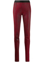 Ann Demeulemeester textured slim fit leggings