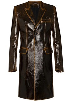 Ann Demeulemeester textured vinyl coat