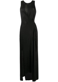 Ann Demeulemeester tie fastened sleeveless maxi dress