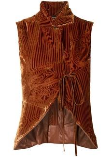 Ann Demeulemeester tie-fastening vest top