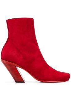 Ann Demeulemeester tilted heel ankle boots