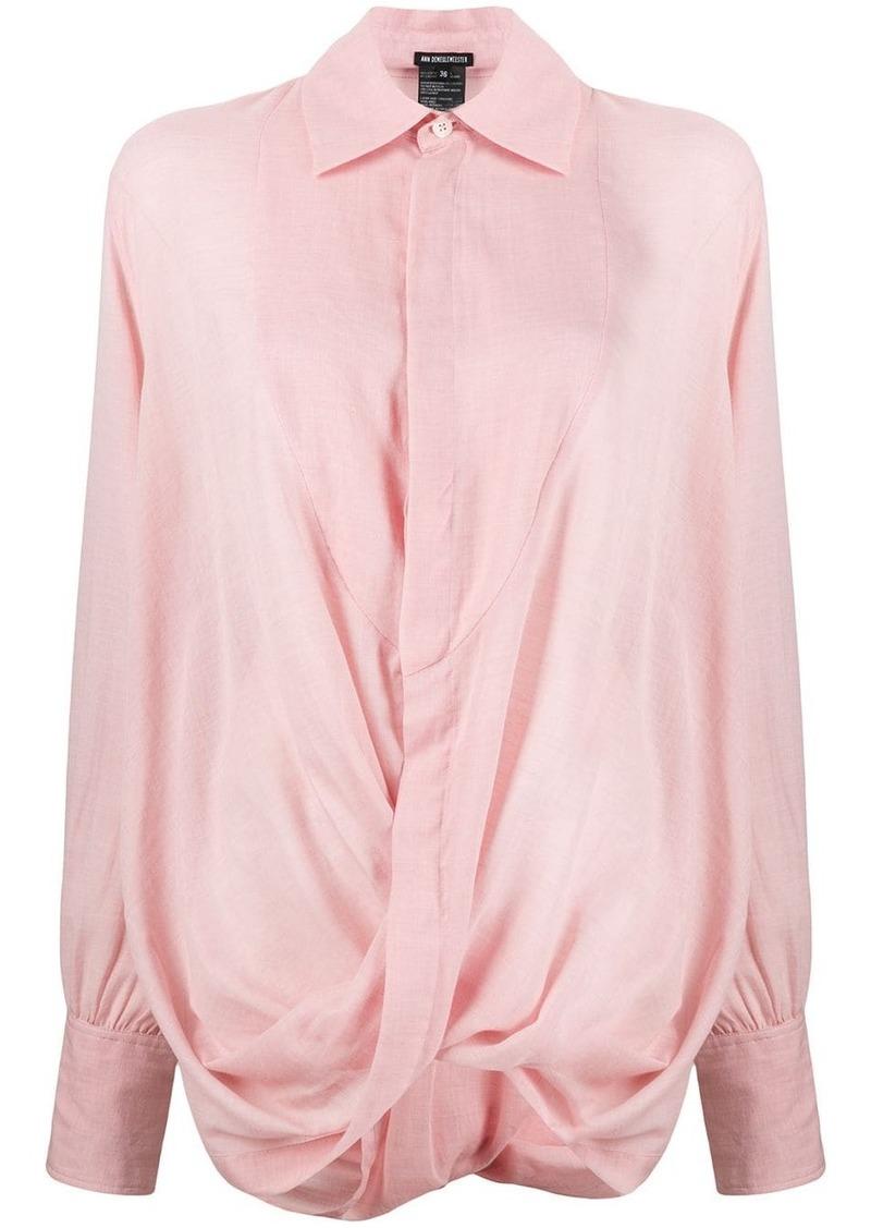 Ann Demeulemeester twist drape shirt