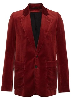 Ann Demeulemeester velvet single breasted blazer