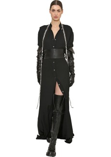 Ann Demeulemeester Viscose Long Shirt Dress