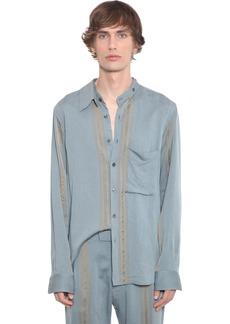 Ann Demeulemeester Viscose Shirt W/ Double Collar