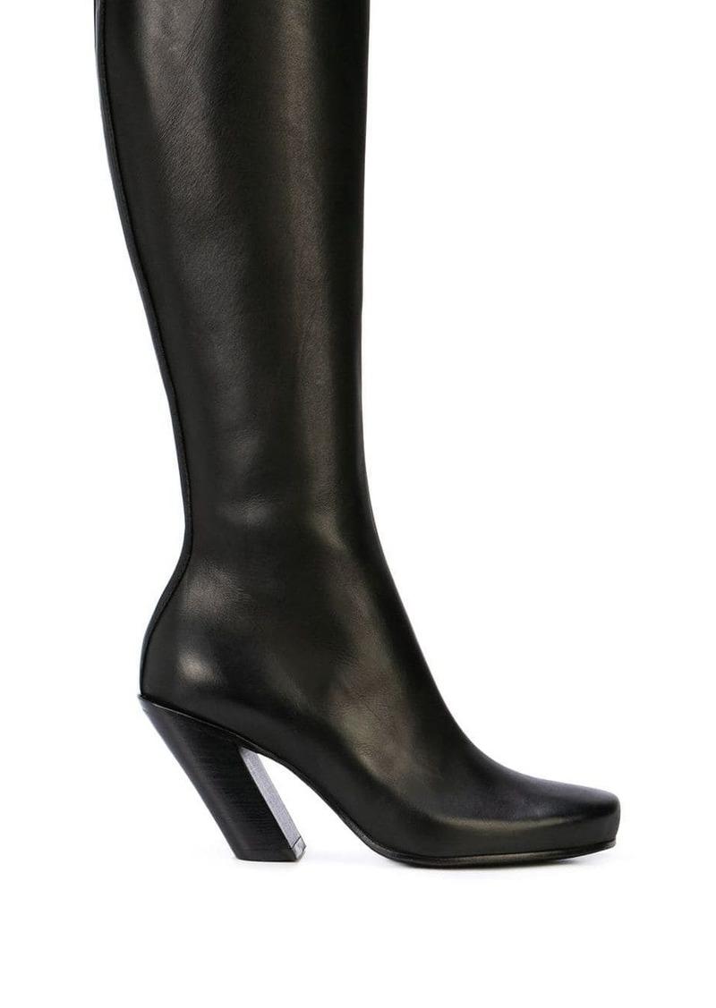 Ann Demeulemeester vitello seta knee boots