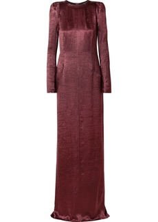 Ann Demeulemeester Washed-satin Maxi Dress