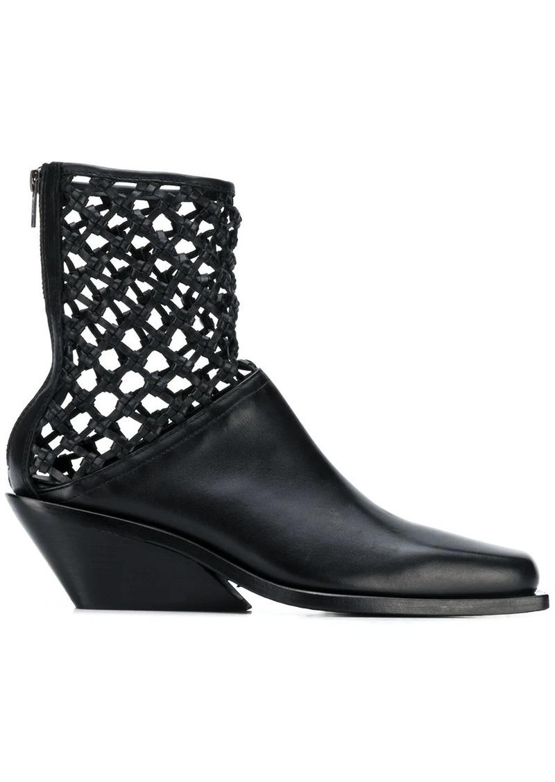Ann Demeulemeester weaved detail boots