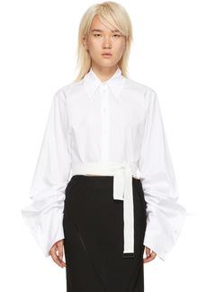 Ann Demeulemeester White Cropped Byron Shirt