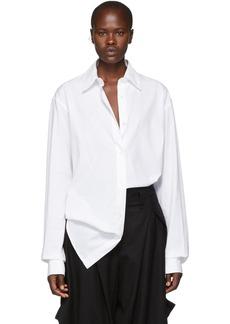 Ann Demeulemeester White Oversized Cotton Shirt