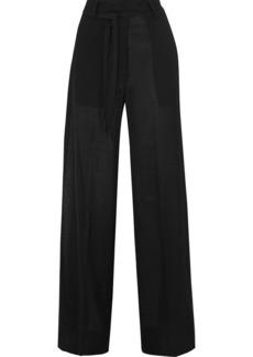Ann Demeulemeester Wool-blend Voile Wide-leg Pants