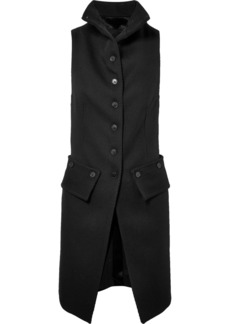 Ann Demeulemeester Wool-twill And Satin Vest