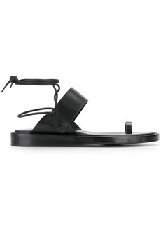 Ann Demeulemeester wrap-around lace-up sandals