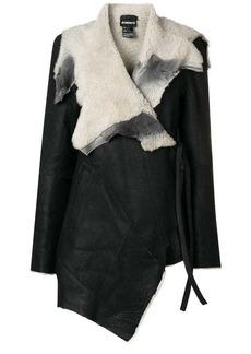 Ann Demeulemeester wrap around leather jacket