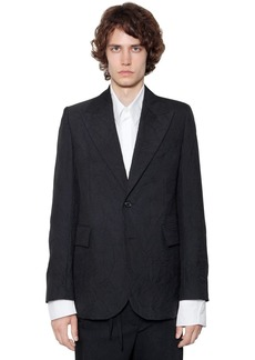 Ann Demeulemeester Wrinkled Effect Mixed Virgin Wool Jacket