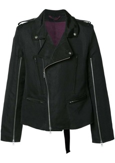 Ann Demeulemeester zip up biker jacket