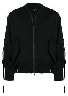 Ann Demeulemeester zipped gathered sleeve sweatshirt