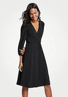 Ann Taylor 3/4 Sleeve Wrap Dress
