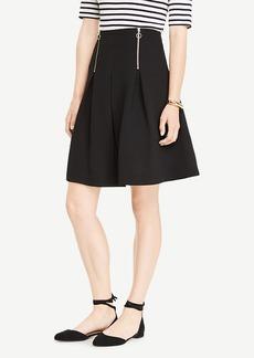 Ann Taylor A-Line Front Zipper Skirt
