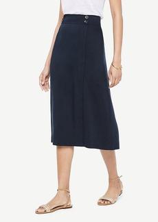Ann Taylor A-Line Midi Skirt