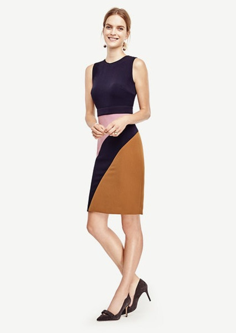 c752bb49e3c Ann Taylor Abstract Colorblock Sheath Dress