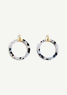 Ann Taylor Acetate Statement Hoop Earrings