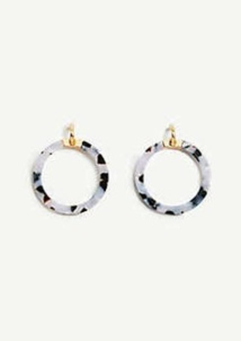 Ann Taylor Marbleized Statement Hoop Earrings