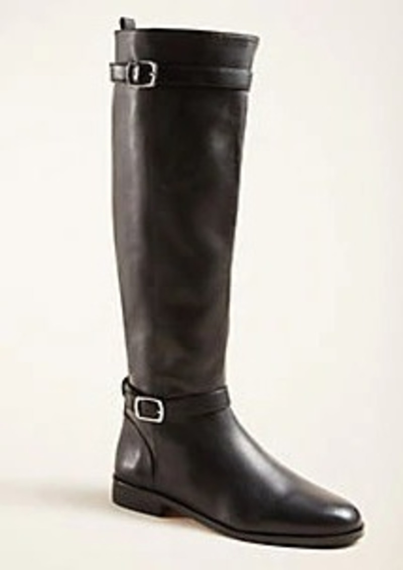 Ann Taylor Adalia Buckle Leather Boots