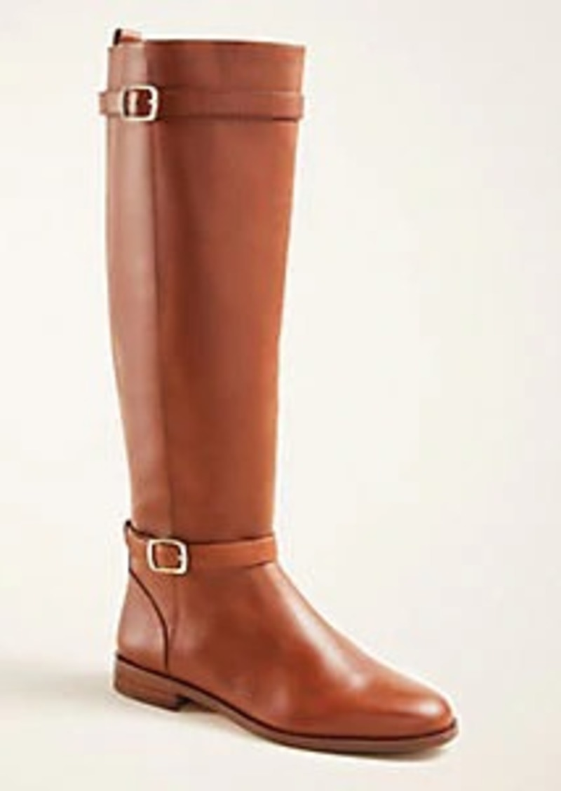 Ann Taylor Adalie Extended Calf Leather Boots