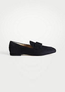 Ann Taylor Adeline Suede Bow Loafers