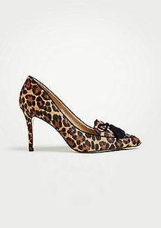 Ann Taylor Aiden Leopard Print Haircalf Tassel Pumps