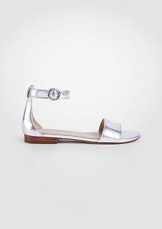 Aislyn Metallic Leather Flat Sandals