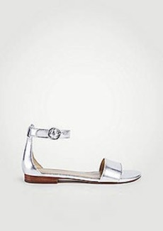 Ann Taylor Aislyn Metallic Leather Flat Sandals