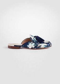 Alesia Floral Leather Loafer Slides