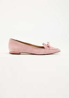 Ann Taylor Althea Suede Bow Flats