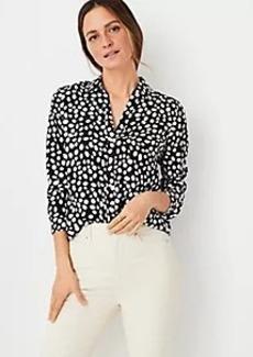 Ann Taylor Animal Print Essential Shirt