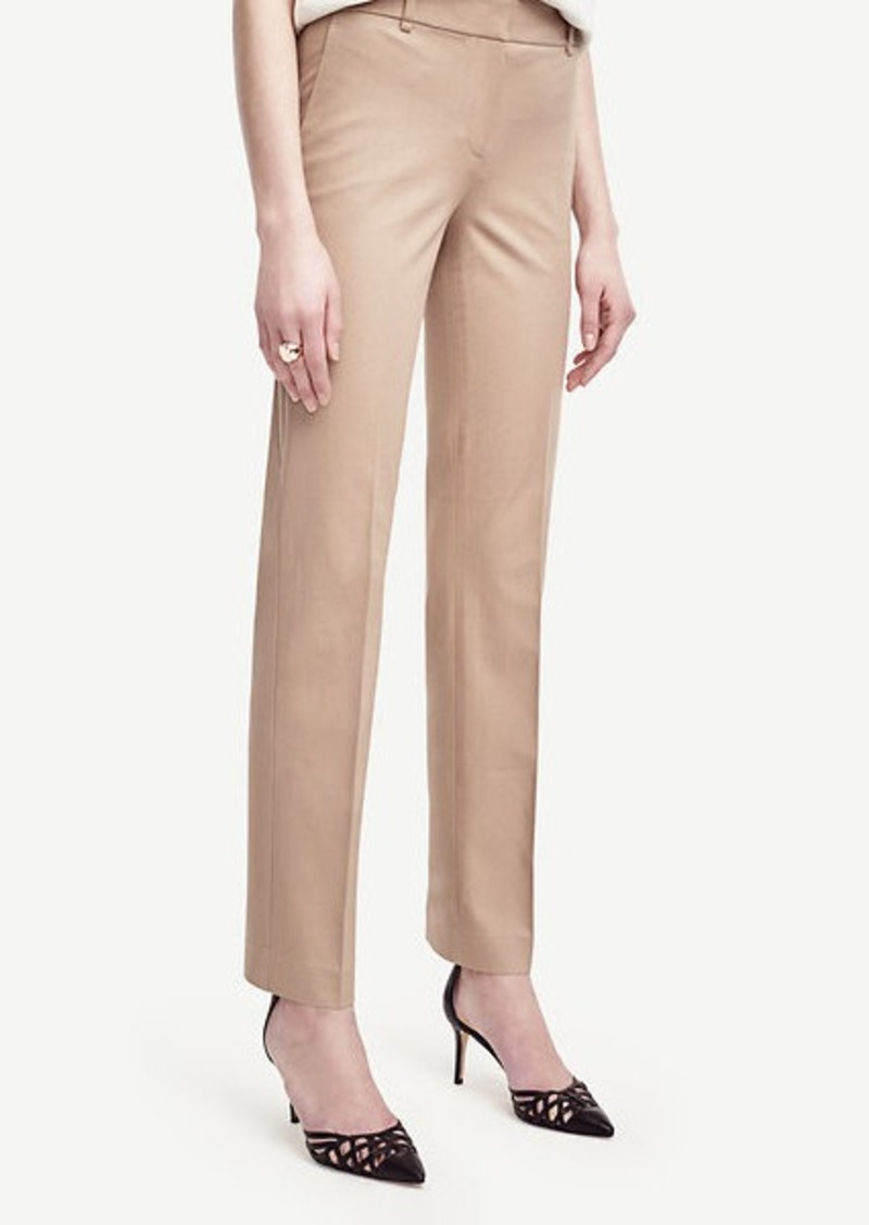 Ann Taylor Ann Cotton Blend Straight Leg Pants