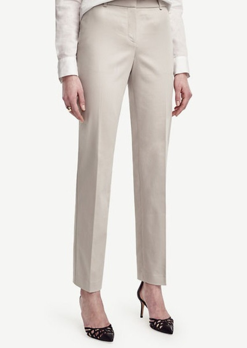 Ann Taylor Ann Cotton Sateen Straight Leg Pants