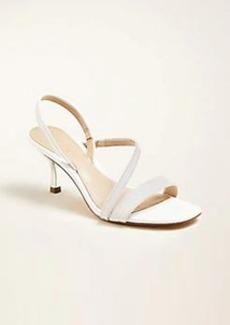 Ann Taylor Annette Embossed Leather Slingback Sandals